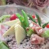 雑穀米でピンクの筍ご飯