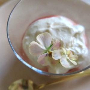 お豆腐のティラミス風デザート