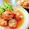 パクチー肉団子のエスニック煮