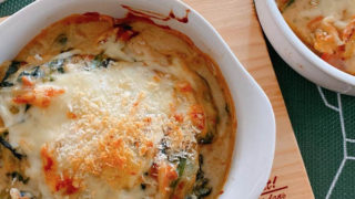 豆腐の味噌クリームグラタン