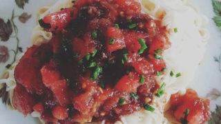 トマトアンチョビ素麺