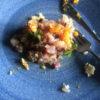 アジと卵黄のおつまみ