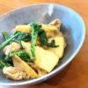 豚肉と筍と菜の花の味噌炒め