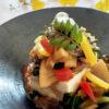 生豆腐&野菜たっぷりゴマ醤油かけ
