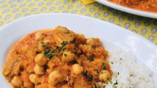ひよこ豆とチキンのトマトカレー