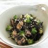 鶏・ひじき・ブロッコリーの炒め物