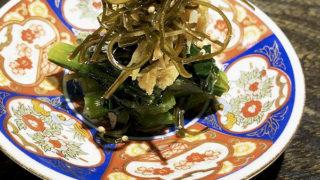 小松菜と昆布と小女子の煮浸し