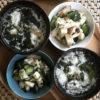 鶏とキュウリ、長芋の梅シソ胡麻和え