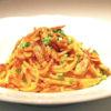 エビとタケノコのスパゲッティ