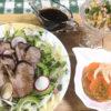 マリネドキャロット&コーンサラダ&豚肩ロースのバルサミコ煮