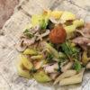 ロリと豚肉の梅干し炒め