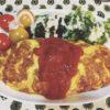 ミンチ肉のオムレツ