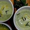 ズッキーニの冷製スープ・カレー風味