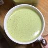 緑のポタージュスープ