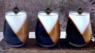 ミルクゼリーと コーヒーゼリーで作る#斜めゼリー