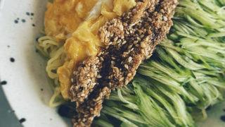 ウチのとろ玉極細胡瓜和え麺