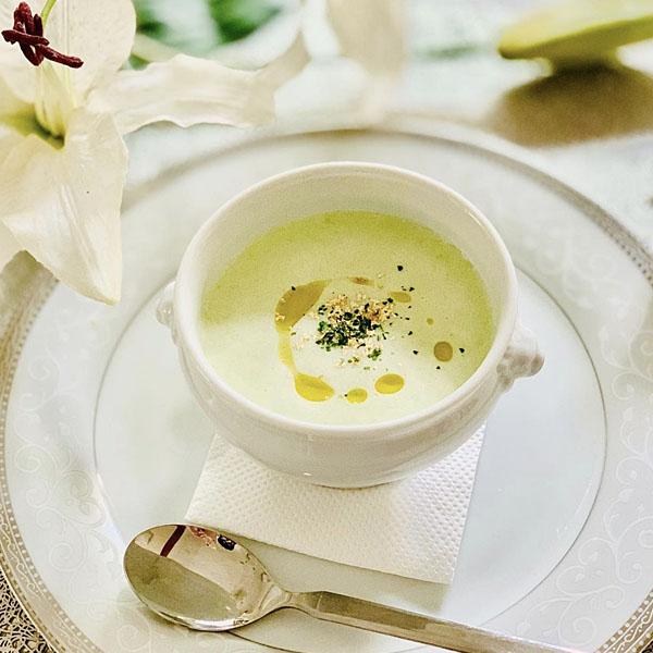 枝豆と豆乳の冷製ポタージュ