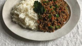 野菜たっぷり!肉味噌ライス