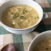 シュレッドチーズと卵のふわふわスープ