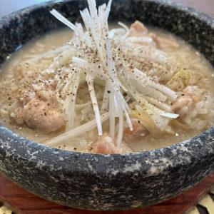 鶏湯風の鶏雑炊