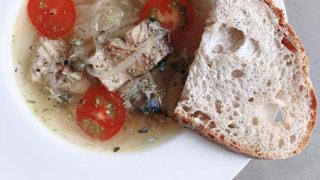 鯖の水煮缶を使った簡単海鮮スープ